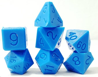 Perfect Plastic Dice - RAW - Blue