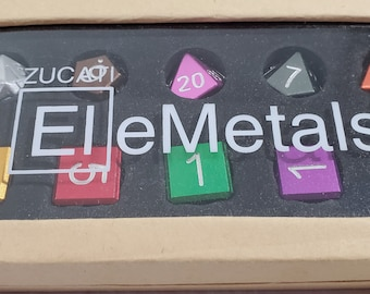 Zucati Dice EleMetal™ Aluminum Polyhedral Set of 10 - Rainbow (C)