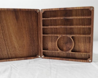 Zucati Dice Vault and Rolling Surface System - Black Walnut
