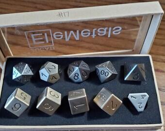 Final #17 Zucati EleMetal™ Cast Iron and Bronze Polyhedral Set - Custom- As Seen