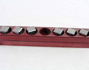 Zucati EleMetal™: Pale Blue Die - Stainless Steel 6D6 Set