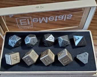 Final #16 Zucati EleMetal™ Cast Iron and Bronze Polyhedral Set - Custom- As Seen