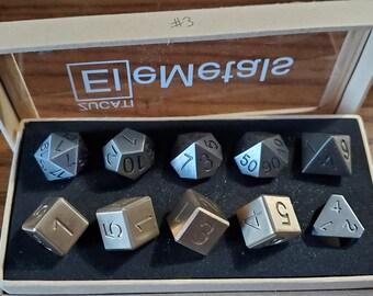 Final #3 Zucati EleMetal™ Cast Iron and Bronze Polyhedral Set - Custom- As Seen