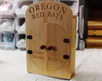 """Zucati """"Little Red Bats"""" Bat Box / House - Pine - Oregon State"""