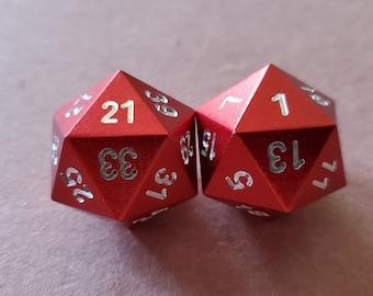 Red Randomizers D20 Zucati EleMetal™ Aluminum