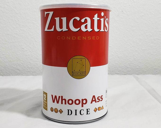Featured listing image: Zucat's Can of Whoop Ass Dice (Sealed)