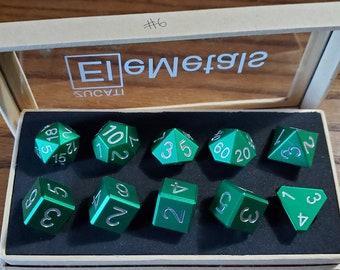 Final #6 Zucati EleMetal™ Aluminum Polyhedral Set - Custom- As Seen