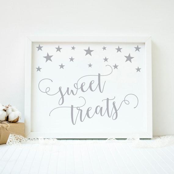 Twinkle Little Star Baby Shower Sweet Treats Sign Dessert Table