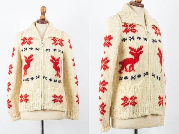 Cowichan Vintage Sweater, Vintage Wool Jumper, Can
