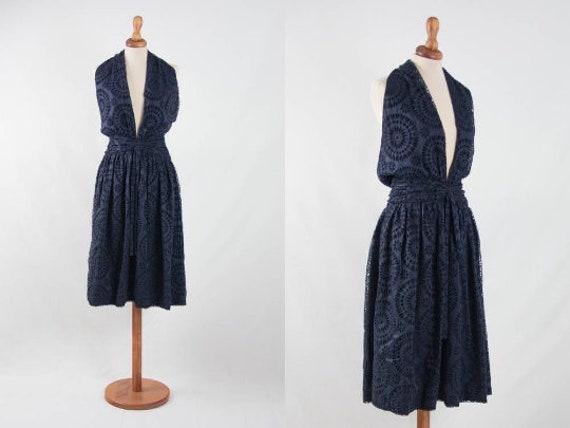 Christian Dior dress, navy blue cocktail dress, la