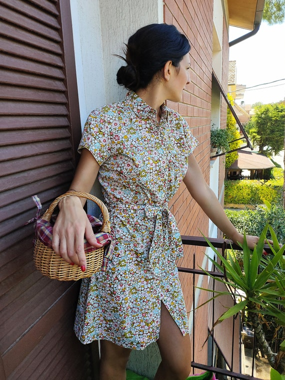 Cacharel, Liberty, 90s Vintage, Floral Print, Cach
