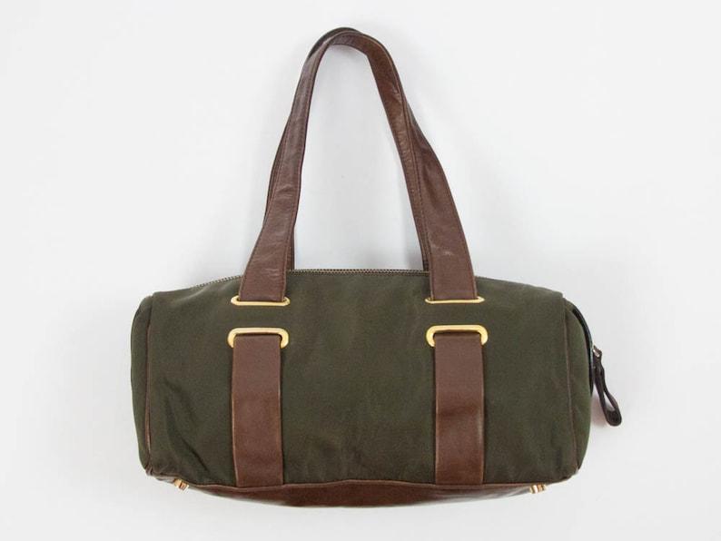 61915fc36cefa 90er Jahre Vintage Casadei Handtasche Leder und Nylon zwei