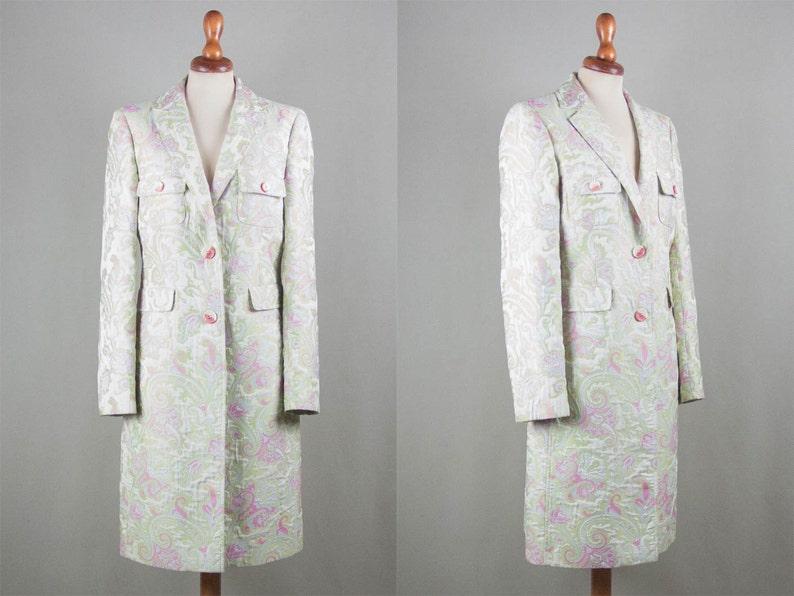 etro coat floral embroidered spring coat etro milano flower image 0