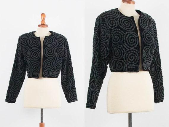 80s Vintage Blazer, Bolero Jacket, 1980s Blazer, B