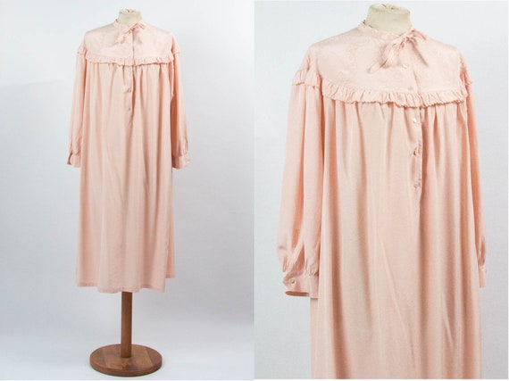 Vintage Night Gown, Pink Nightie, 40s Vintage, 194