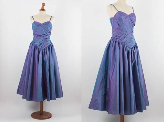 Fairy Vintage Dress, 80s makes 50s, Blue Iridescen