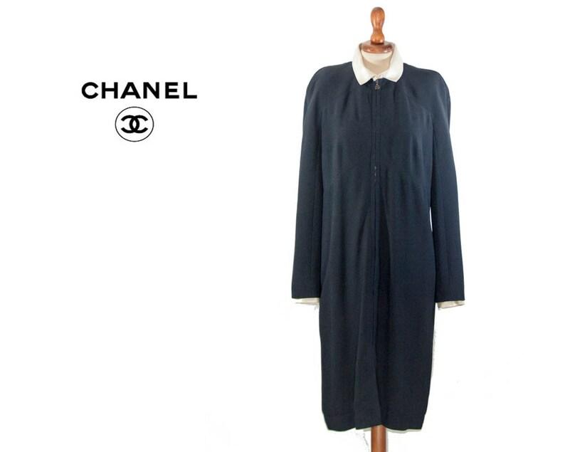 583ce30a0d1 Vintage robe de Chanel 90 s Prom robe authentique Coco