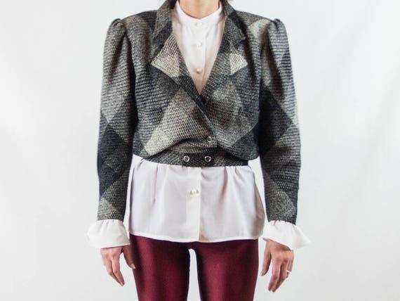 ungaro vintage blazer, 1980s jacket, wool tom, wid