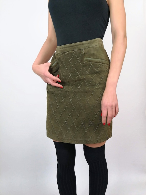 Leather Skirt, Vintage Leather Skirt, 80s Fashion,