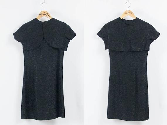 60s Pencil Dress, Crop Top Dress, Brocade Dress, V