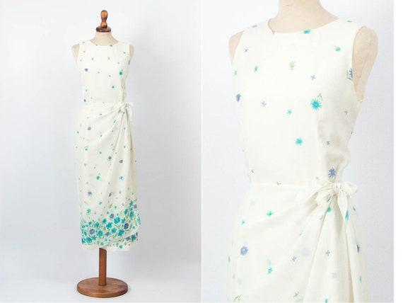 Ceremony Dress, Vintage Dress, 80s Vintage, White,