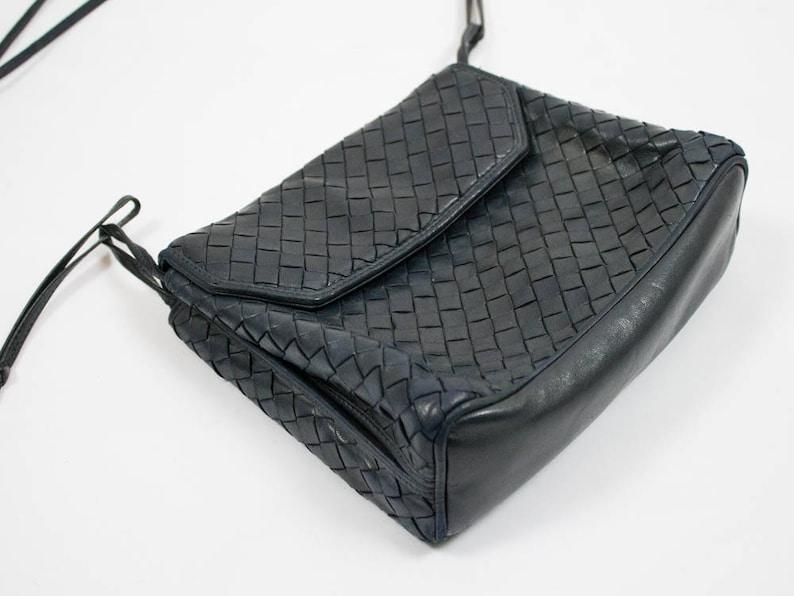 Bottega Veneta 80s vintage purse b veneta handbag woven  894f0bf4e812b