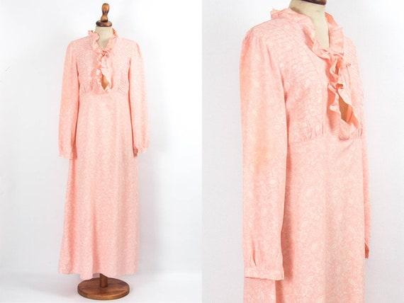 60s Vintage Robe, Vintage Nightie, Boho Dress, Rom