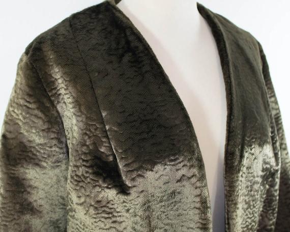 Velvet Jacket, Vintage Cropped jacket, 60s, Brown,