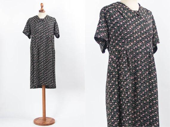 Vintage Floral Dress, Vintage 50s Floral Dress, Fr