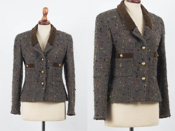 Chanel Vintage Jacket, 1990s Chanel Authentic, Br… - image 1