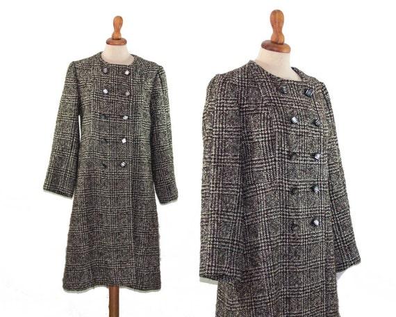 Plaid Coat, Womens Coat, Peacoat, Prince of Galles