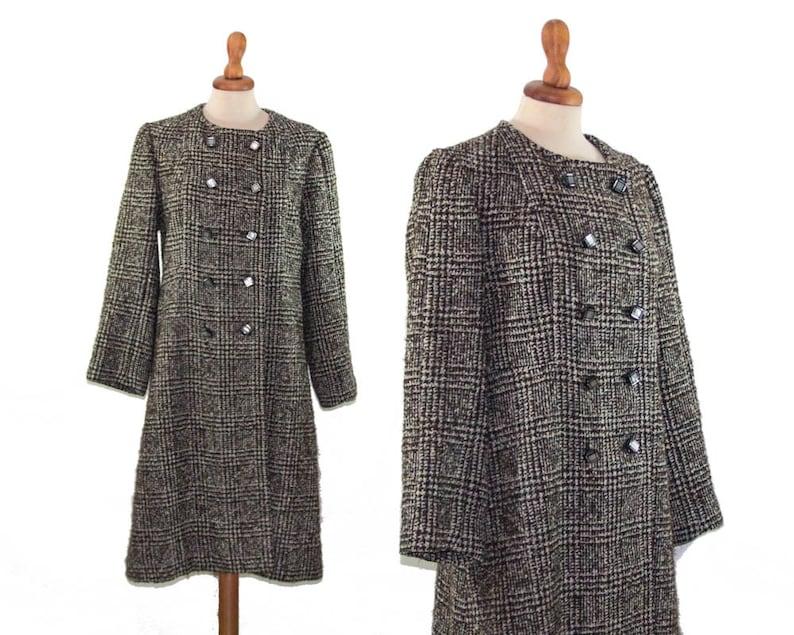 Plaid Coat Womens Coat Peacoat Prince of Galles Coat image 0