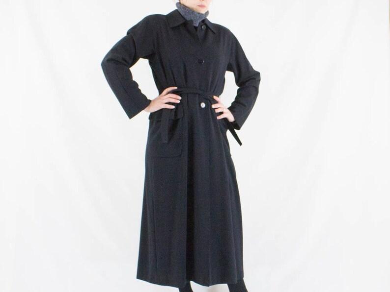 Max mara 80s coat black long coat max mara trench vintage image 0