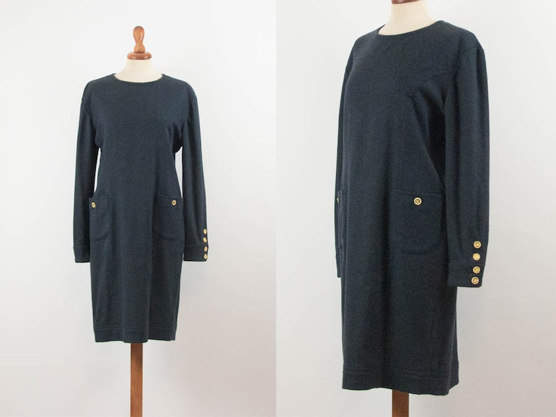 efe6d654c7 80s Vintage Dress Luisa Spagnoli Formal Dress Eighties | Etsy