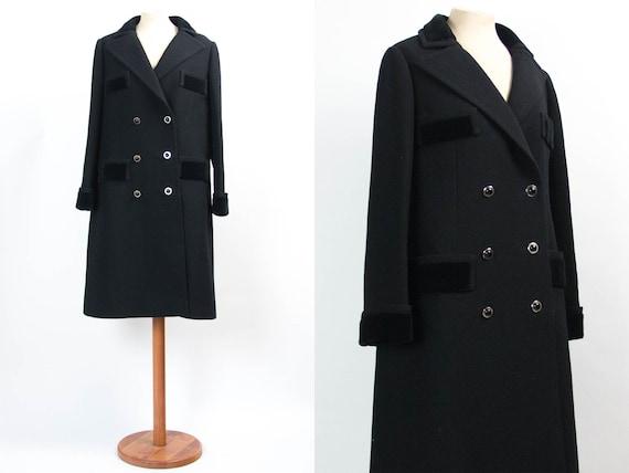Winter Coat Black, 50s Vintage Coat, Elegant Women