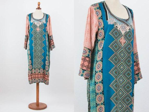 70s Kaftan Dress, Maxi Dress, Beach Kaftan, Authen