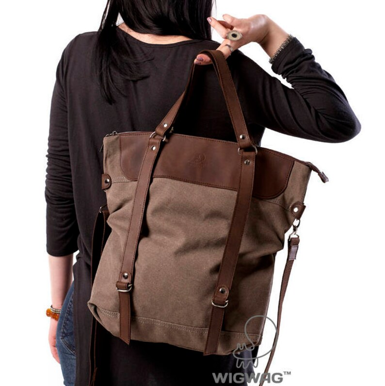 e447cf4e41 Borsa grande donna borsa di tela borsa a tracolla zaino di | Etsy