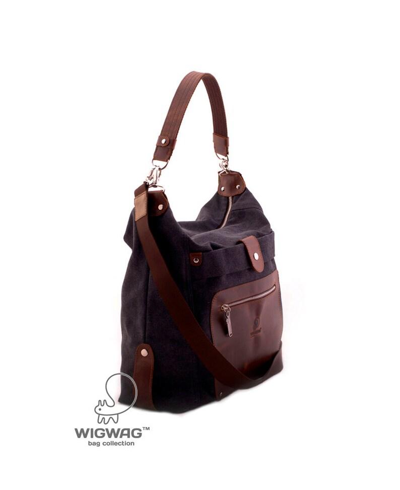 9d8cd1d38131b Płócienna torba skórzana odzież płótnie torba crossbody bag
