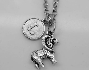 Bighorn Sheep Necklace -Ram Necklace -Initial Charm Necklace -Your Choice of A to Z