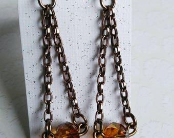 Swarovski Crystals on Chain Earrings