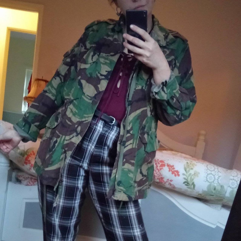 3a07741897c8ea Genuine vintage British Nato Military Camouflage Camo Jacket