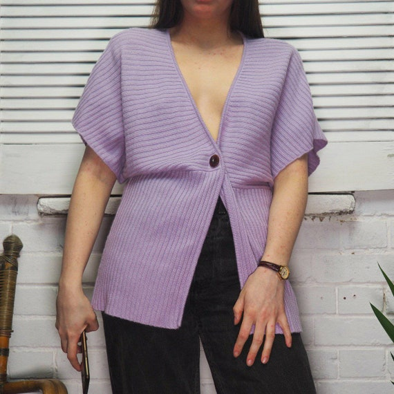 Lilac Purple Cashmere Cardigan