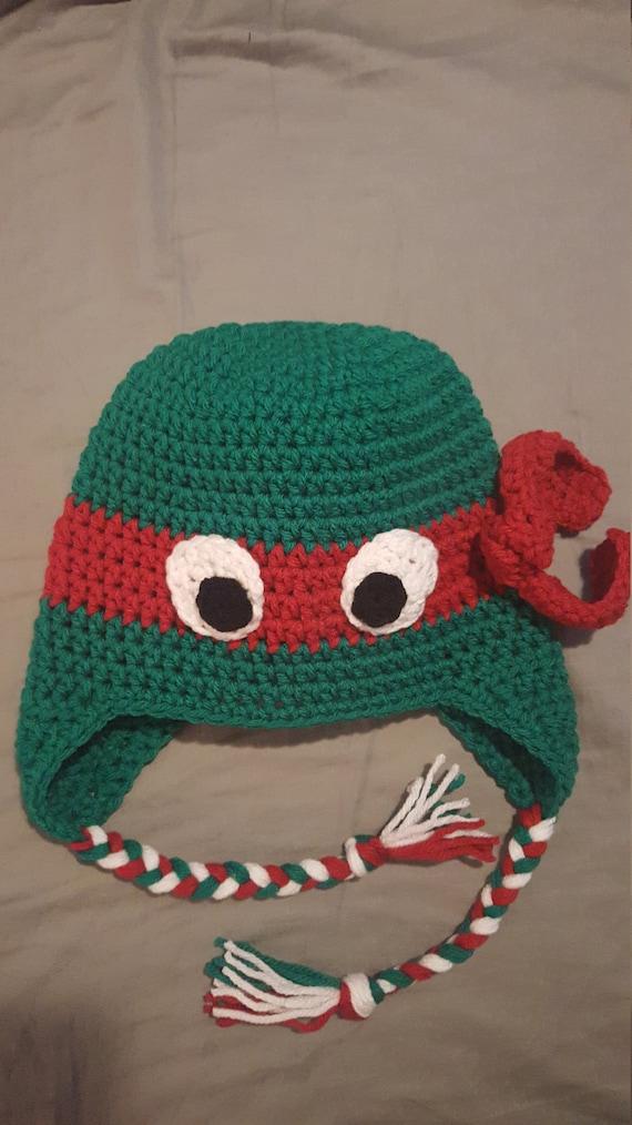 Crocheted TMNT Leonardo Hat for children