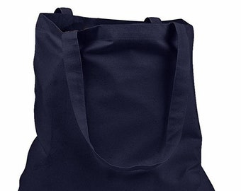 Blank   Plain Tote Bag - 100% Cotton Canvas- Craft   Promotion - Black -  Ideal For Personalized Gifts - Elegant Shopping 688acb42b