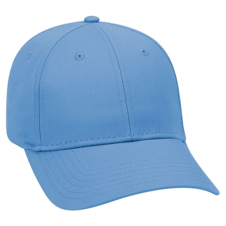 8d1630b369627 Blank Plain Hat / Cap - Baseball Golf Fishing - Light Blue - 6 Panel Cotton  Twill Low Profile Pro Style Caps - Ready For Embroidery