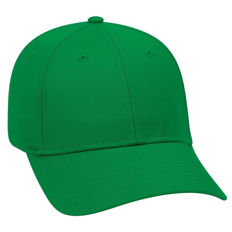 dac27bcc7b2f0 Blank Plain Hat / Cap - Baseball Golf Fishing - Kelly Green - 6 Panel  Cotton Twill Low Profile Pro Style Caps - Ready For Embroidery