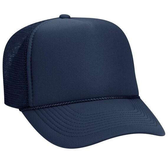 845201b1191 Blank Plain Mesh Trucker Hat   Cap-Baseball Navy Blue 5
