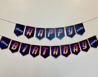 Back to the Future Birthday Banner (Digital - Instant Download)