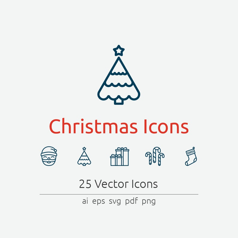 Christmas Icon Set in Vector and PNG image 0