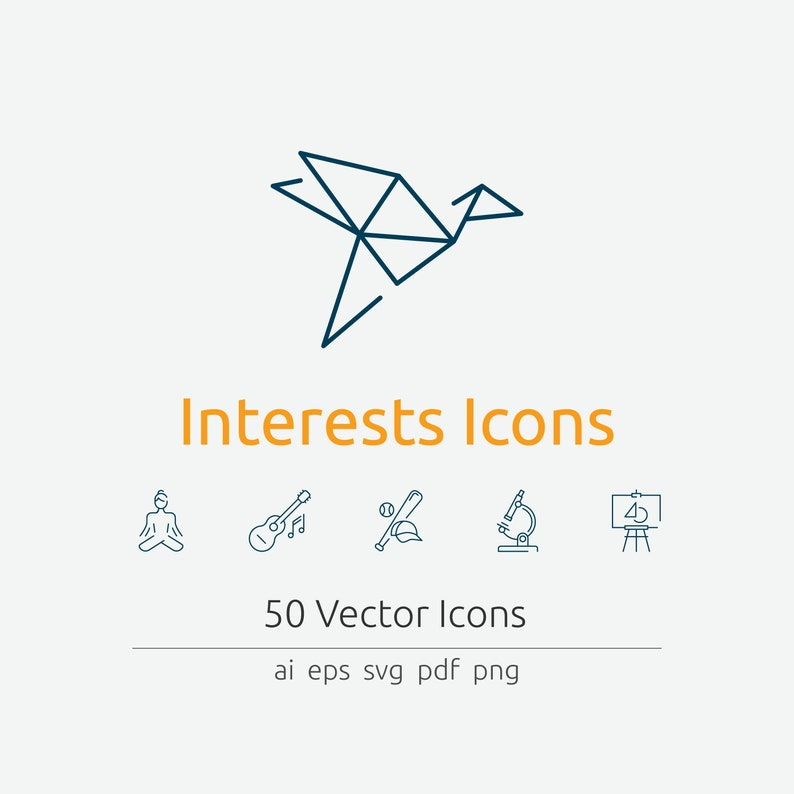Interests Icons in Vector and PNG image 0